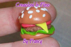 Fimo 6  hamburger by FrancescaBrt