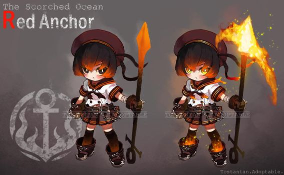 [ADOPTABLE AUCTION] RED ANCHOR [Close] by Tostantan