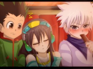 hunter x hunter: gon, killua and crystal by ichata