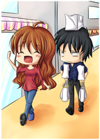 Chibi Commish: SHOPPING TIME by Kamikaze-Kaito