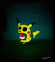 Evil dark Pikachu by TheSaigou