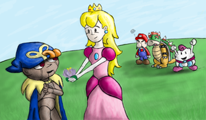 Peach and Geno Speed Paint by MeganImel
