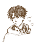 Captain Levi Sketch by SilverdragonAmai