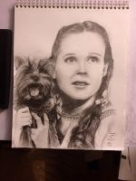 Dorothy and Toto by etchnsketchart