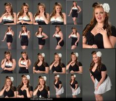 Stock:  Courtney 20 Retro Portraits by ArtReferenceSource