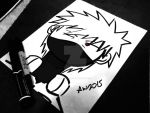 3 Minute Drawing: Kakashi Chibi by Randazzle100