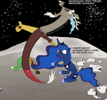 Discord and Luna laughing by Nukarulesthehouse1