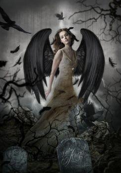black angel woman by saritaangel07