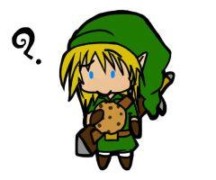Link and his cookeh by caliburofdarkness