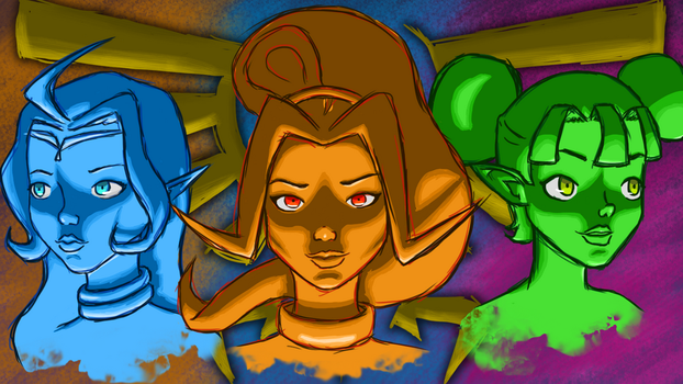 Zelda - The Divine Sisters by ZoomJet