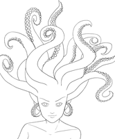 Tentacle Hair Lines by violetice