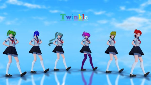 [MMD Yandere Simulator]Twinkle[TDA Rainbow Girls] by SeeUVocaloid3channel