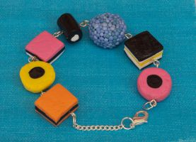 Licorice All Sorts Bracelet by DeliciousTrickery