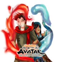 Avatar: Mako and Korra by Chiu0Sora