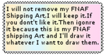 I Will Not Remove FNAF Shipping Art stamp (RQ) by RavenE20