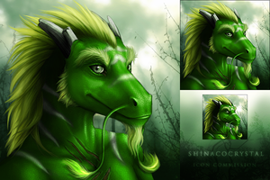 Icon commission Shinacocrystal by DarkIceWolf