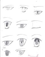 Anime eyes 2!! by Pointsforever0330