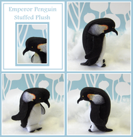 Emperor Penguin Plush by hazelarmadillo