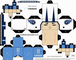 Matt Hasselbeck Titans Cubee by etchings13