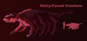 Hairy-faced creature by Spearhafoc