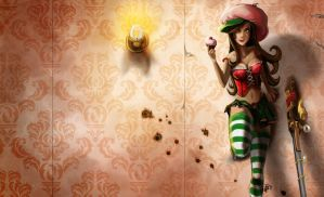 Caitlyn 'Cherry Cupcake' wide by inkjetcanvas
