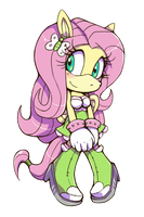 Fluttershy - Mobianized by Cylent-Nite