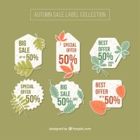 Autumn Sale Label Collection Vector by FreeIconsdownload