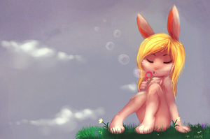 bunny bubbles by Toesies