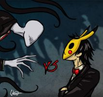 Slenderman vs CreepsMcPasta by ControlledChaotic