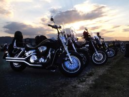 Motorcycle at sundown by TheSindy