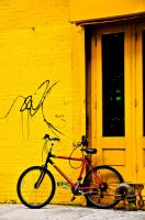 Red Bicycle by AdYny