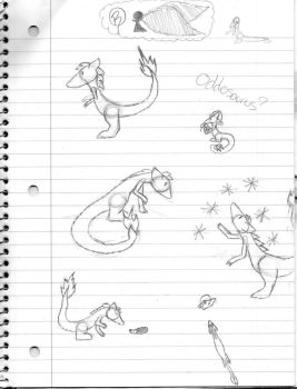 A few more Odd Sketches by Oddosaurus