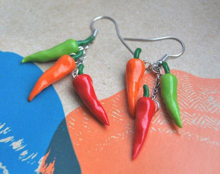 Spicy Hot Pepper Earrings by Madizzo