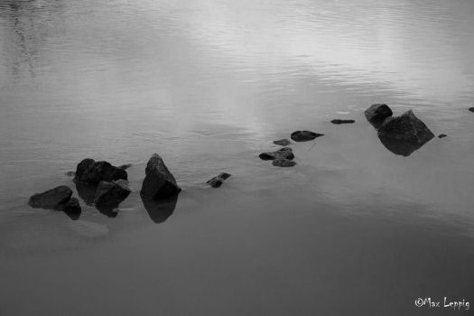 Stones in the water by MaxLeppig