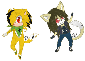 Gift -= Chibi Bolt and Abril  =- by Makojupiter