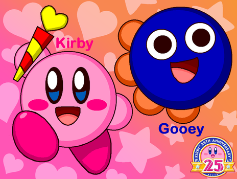 Kirby and Gooey by cuddlesnam