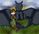 The rider and his dragon by Darkness-of-Angels13