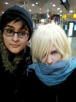 Yuri on Ice - Yuuri and Yuri at the mall by NelaineIvory