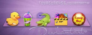 Skin purple Rocketdock by tuyagure456