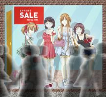 SAO Casual Mannequins in the Window by adi1625