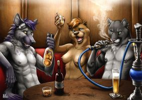 Fun at the pub by Nimrais