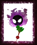 Gastly With A Beet by Bonka-chan