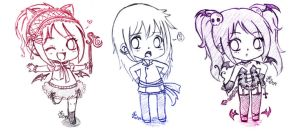 Mini Chibi Sketches by cocoakiss