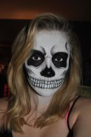 Skull Facepaint by wompler
