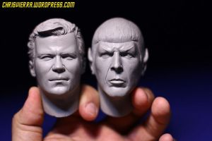 Captain Kirk and Mr. Spock by EvilNinjaChris