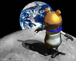 First hamster on the moon by Zeroevil