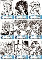 Official DC 52 Sketchcards for Cryptozoic set 2 by ElfSong-Mat