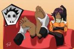 Yoruichi's foot massage by Briel7
