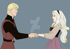 DW: 5 and Minerva : Prince Philip and Aurora by TheLastUnicorn1985