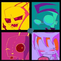 Invader Zim Characters by ChristianStrange3